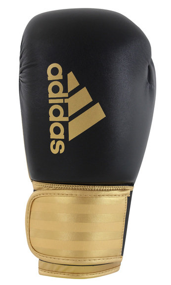 Adidas Hybrid 100 Boxing Gloves, Black Gold
