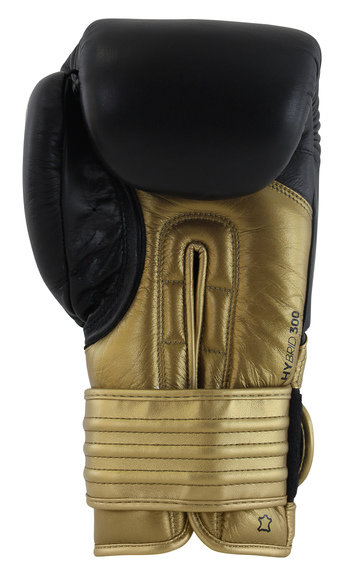 Adidas Hybrid 300 Boxing Gloves Black Gold