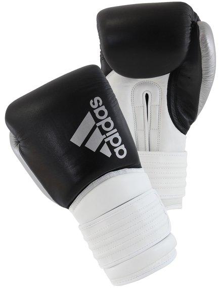 beneficioso Cayo Memoria  Adidas Hybrid 300 Boxing Gloves Black Silver