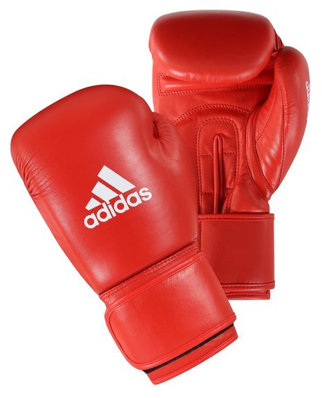 Adidas Boxing Gloves 'AIBA' Licensed Red