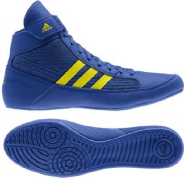 Buy the Adidas Havoc Ring Boot, Blue/Yellow online at Fight Outlet