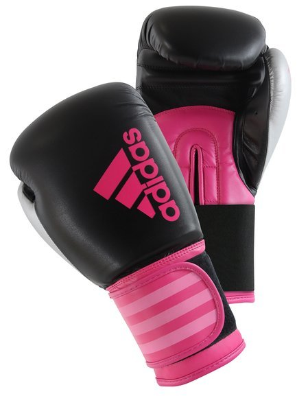 Buy the Adidas Hybrid 100 Ladies Boxing Gloves, Black/Pink online at Fight Outlet