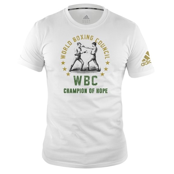 Buy the Adidas WBC Heritage Champion Tee Shirt, White online at Fight Outlet