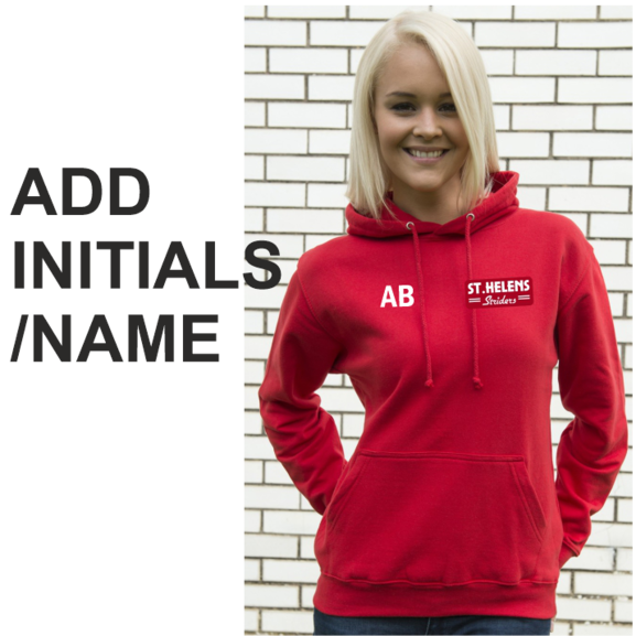 Add Initials/Name to your ST.HELENS Striders product.