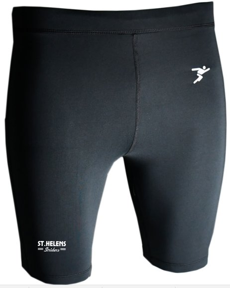 ST.HELENS Striders ESSENTIALS BASE LAYER SHORTS JUNIOR and MENS, BLACK