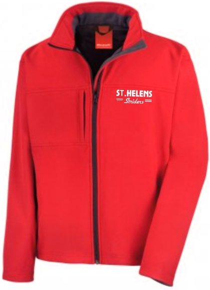 ST.HELENS Striders MENS CLASSIC SOFT SHELL JACKET