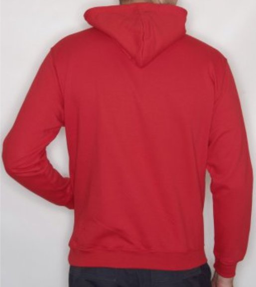 ST.HELENS Striders UNISEX ZIP HOODY with embroidered chest badge only, Plain Back.