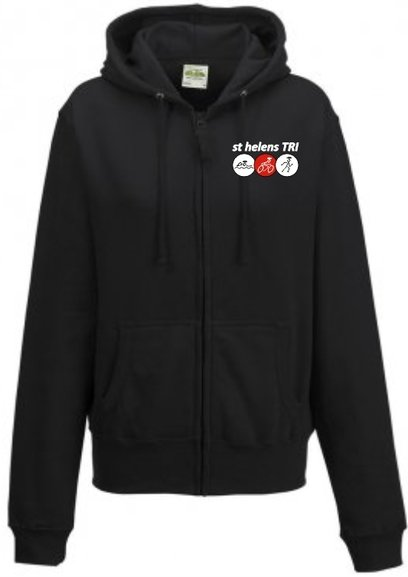 Buy the st helens TRI LADIES ZIP HOODY, PLAIN BACK. online at Fight Outlet