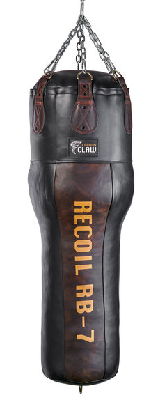 CARBON CLAW RECOIL RB-7 UPPERCUT ANGLE BAG 4FT LEATHER 35kg