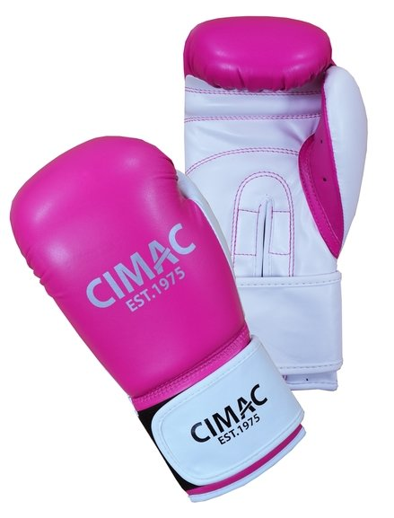 Cimac Artificial Leather Women's Boxing Gloves Pink/White