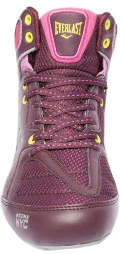 Everlast Strike Ladies Boxing Boots. Bordeaux/Pink