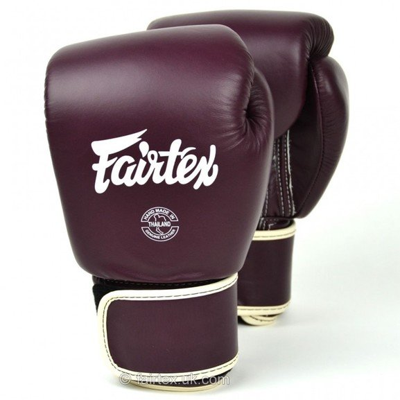 BGV16 Fairtex Maroon Leather Boxing Gloves