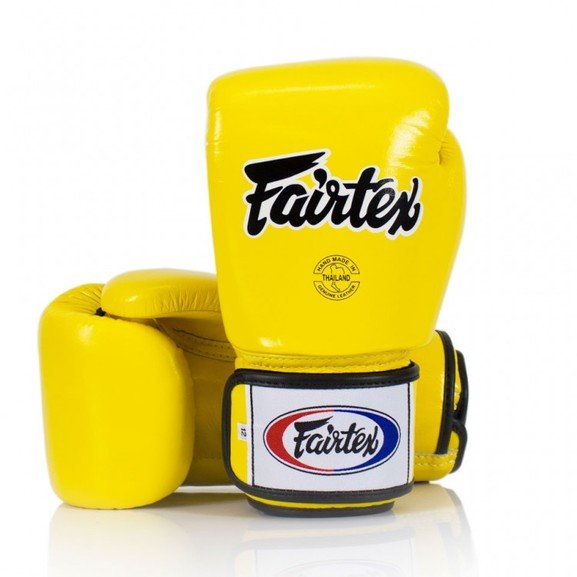 BGV1 Fairtex Yellow Universal Boxing Gloves