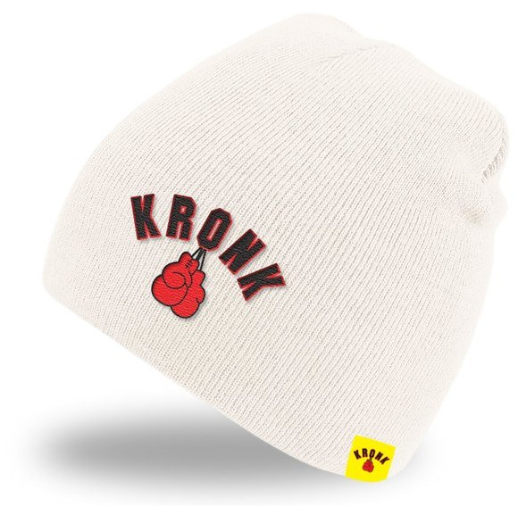 Buy the Kronk Gloves Beanie Hat Winter White online at Fight Outlet