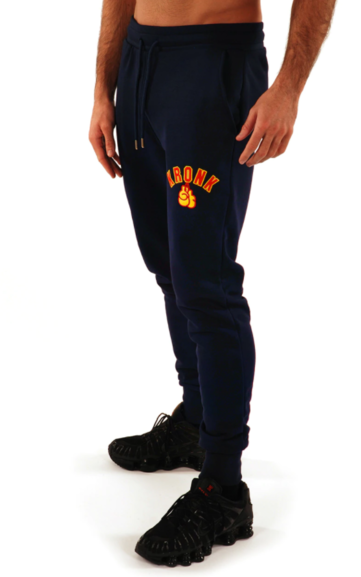 Kronk Gloves Joggers Regular Fit Navy with Red & Yellow Applique logo