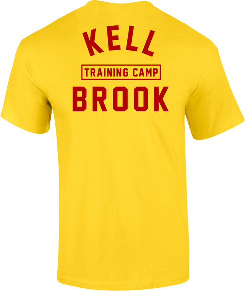 Buy the KRONK  'KELL BROOK' Training Camp Tee Shirt Yellow online at Fight Outlet