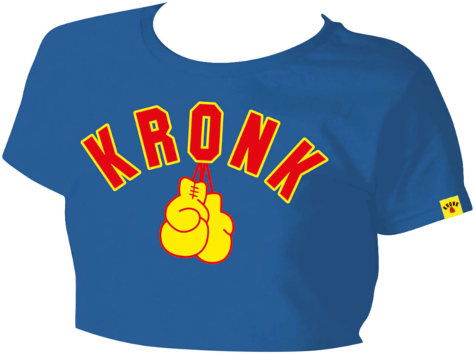 Buy the KRONKWOMEN Gloves Cropped T Shirt Royal Blue online at Fight Outlet