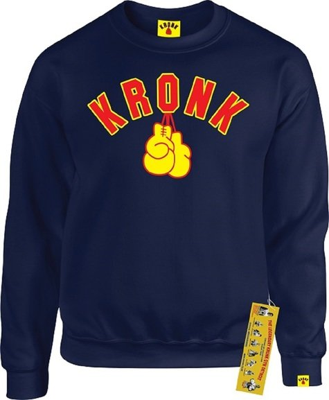 Buy the KRONK Boxing Gloves Sweatshirt Navy  online at Fight Outlet