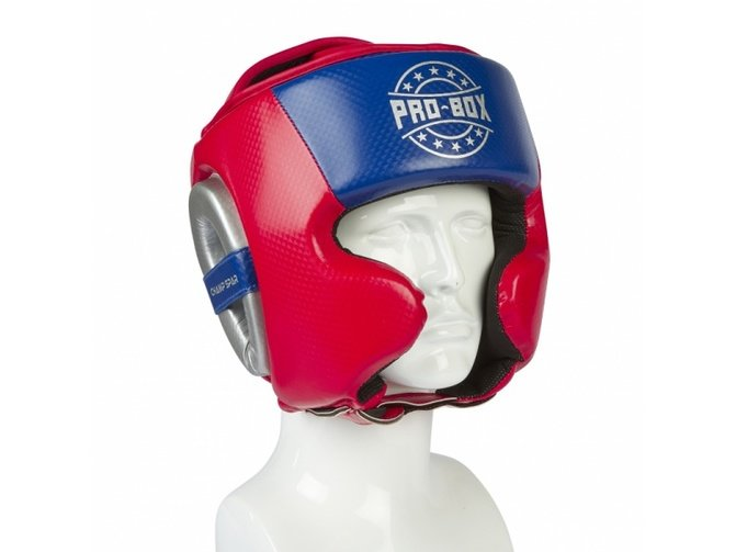 PRO BOX *NEW* CHAMP SPAR HEAD GUARD RED/BLUE