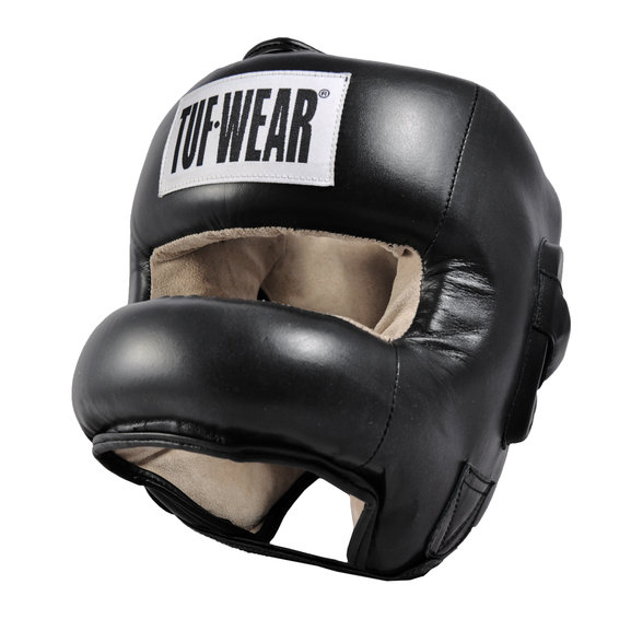 Tuf Wear Headguard Hide Leather Full Nose Protection