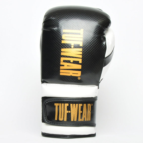 Tuf Wear Victor Training Boxing Gloves, Black/White