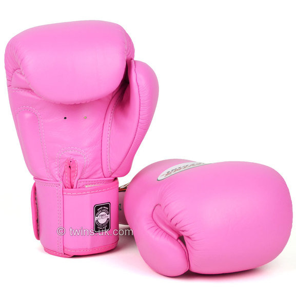 BGVL-3 Twins Pink Velcro Boxing Gloves