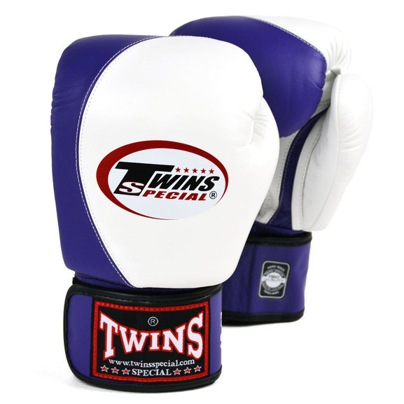 Buy the BGVL8 Twins White-Purple 2-Tone Boxing Gloves online at Fight Outlet