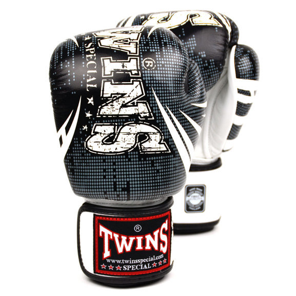 Buy the Twins FBGVL3-TW5 Black-White Boxing Gloves online at Fight Outlet
