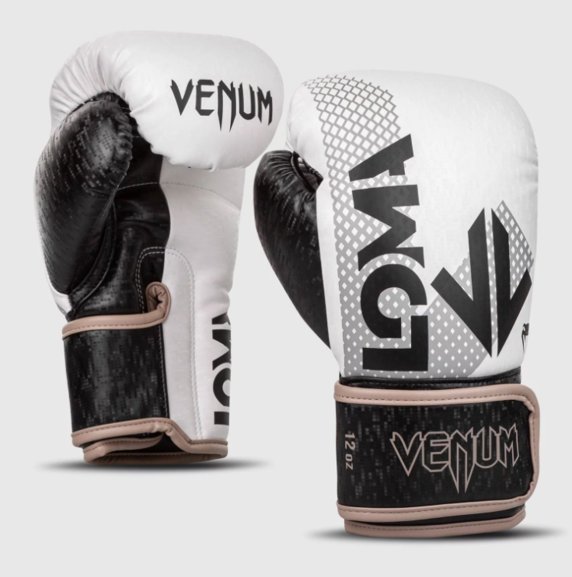 Buy the VENUM ARROW BOXING GLOVES LOMA EDITION White/Black online at Fight Outlet