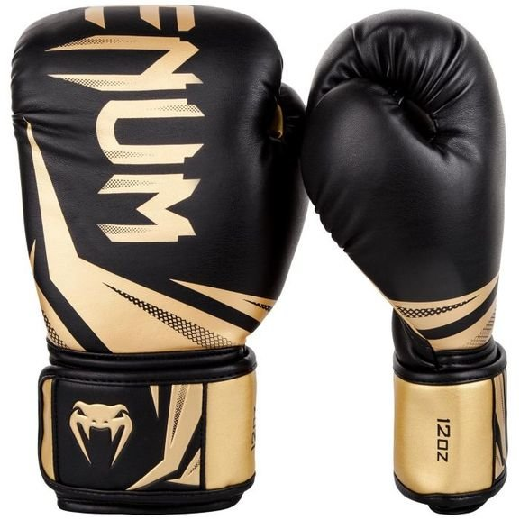Buy the VENUM CHALLENGER 3.0 BOXING GLOVES - BLACK/GOLD online at Fight Outlet