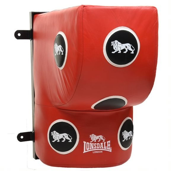 Lonsdale L60 Wall Mounted Strike Bag - Red