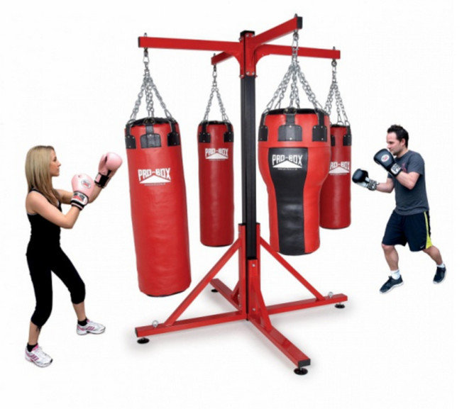 Pro Box 'COLOSSUS' Four Station Free Standing Punch Bag Frame