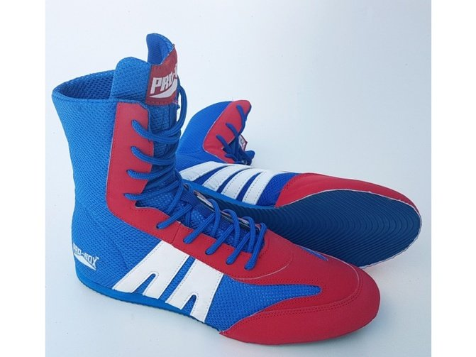 Pro Box Junior Boxing Boots Blue/Red