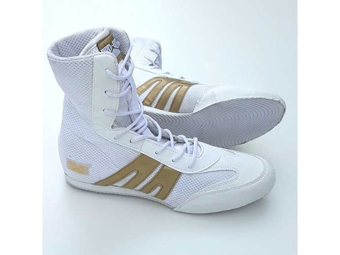 Pro Box Junior Boxing Boots White Gold