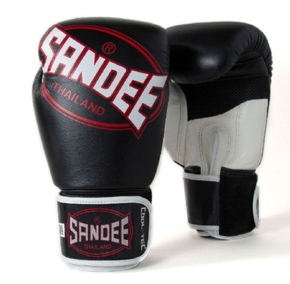 Sandee Cool-Tec Leather Gloves Black/White/Red