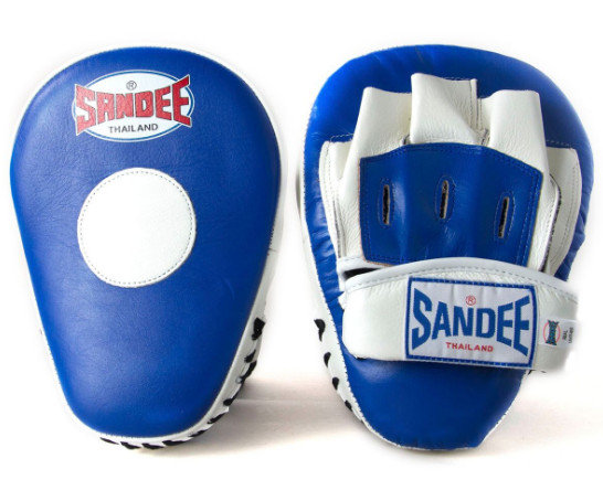 Sandee Curved Focus Mitts - Blue/White