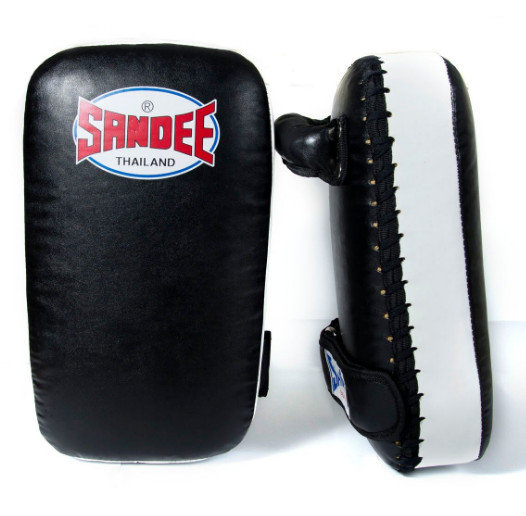 Sandee Kids Extra Thick Thai Kick Pads PU Black/White