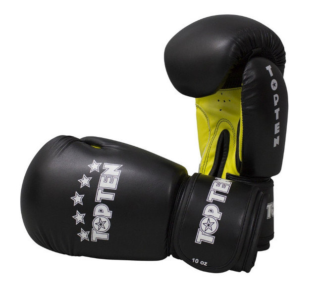 Top Ten R2M 2016 Boxing Gloves 10oz Black Yellow