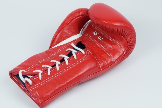 Winning Training Boxing Gloves Red Lace 16oz | Fight Outlet