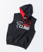 Carbon Claw Hoodie - Sleeveless, Black Thumbnail