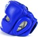 Sandee Kids Closed Face Head Guard- Synthetic Leather Blue  Thumbnail