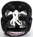 Sandee Closed Face Leather Head Guard - Black Thumbnail