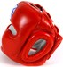Sandee Closed Face Leather Head Guard Red Thumbnail