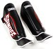 Sandee Cool-Tec Boot Shin Guards Leather Black/White/Red Thumbnail