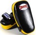 Sandee Curved Thai Kick Pads Leather- Black/Yellow Thumbnail