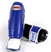 Sandee Kids Boot Shin Guards, Blue/White, Synthetic Leather. Thumbnail