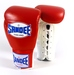 Sandee Lace Up Pro Fight Boxing Gloves Leather- Red/White Thumbnail