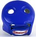 Sandee Open Face Head Guard Leather Blue/White  Thumbnail
