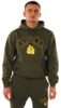 KRONK Gloves Applique Hoodie Regular Fit Military Green with Black & Yellow logo Thumbnail