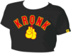 KRONKWOMEN Ladies Gloves Cropped T Shirt Black Thumbnail